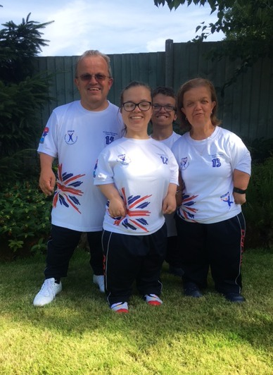 William and his family sporting their World Games kit