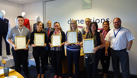 Dimensions celebrates first NVQ graduates!
