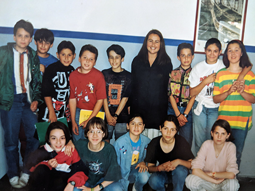 Julie with her students from Tripoli!
