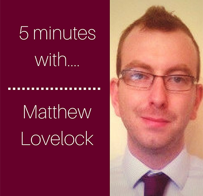 5 minutes with… Matthew Lovelock