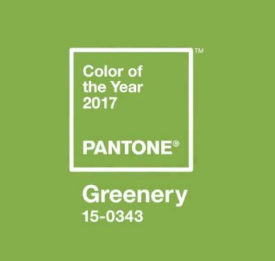 Greenery - Pantone Colour of The Year 2017