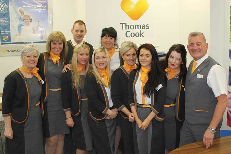 Thomas Cook Dundee modelling their Dimensions designed uniform