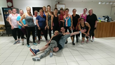 Some of the team after their Zumba class!
