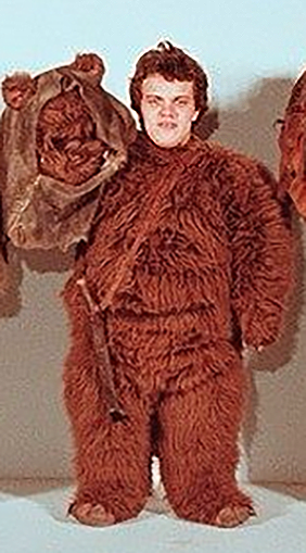 William wearing his ewok costume for Return of the Jedi!