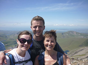 Julie, Andrew and Jo during the 3 peaks challenge!